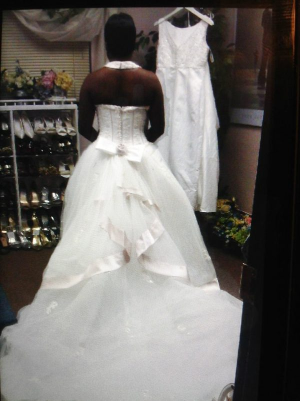 Tulle ball gown back view