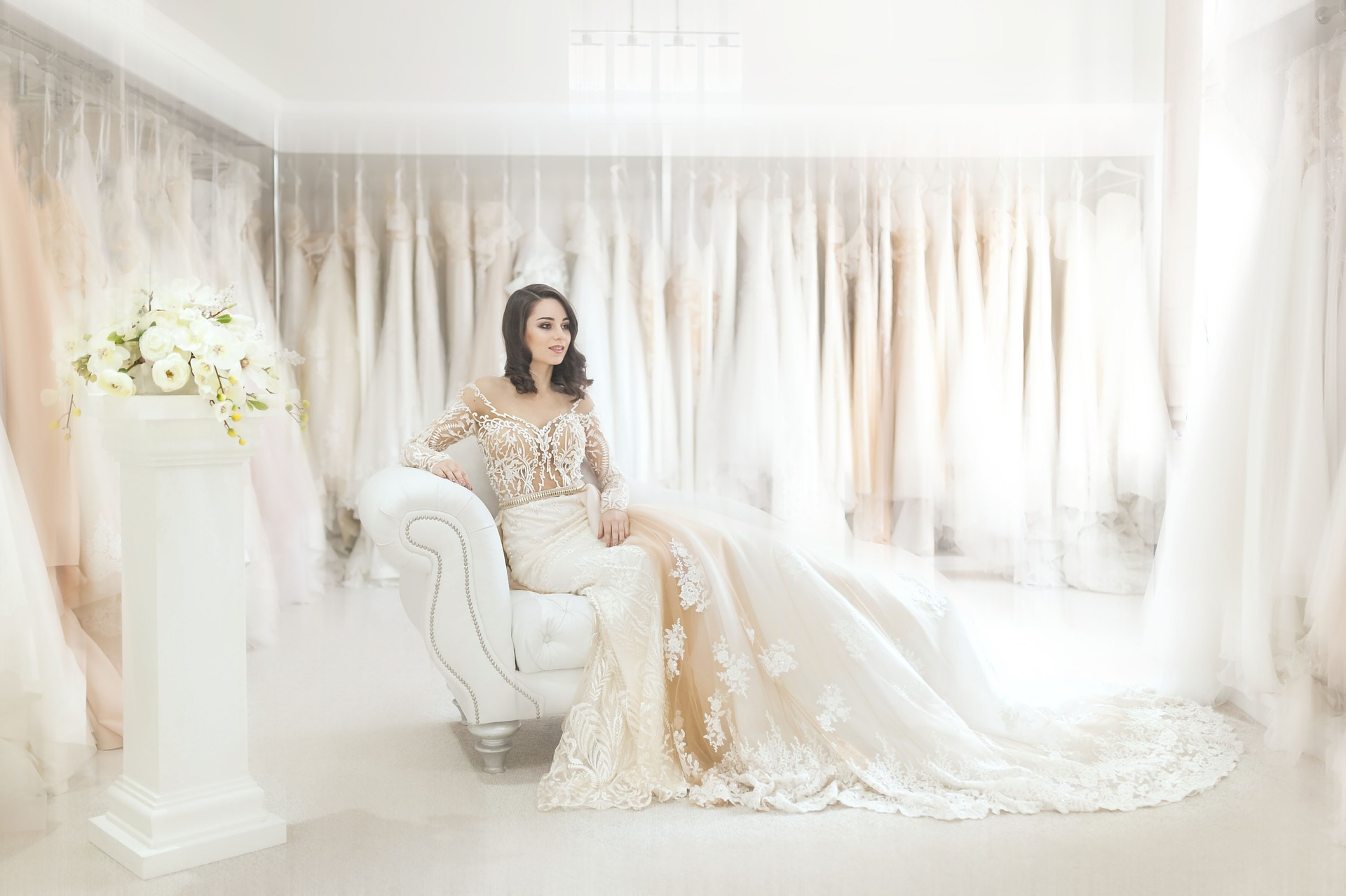 Process of hiring wedding gowns