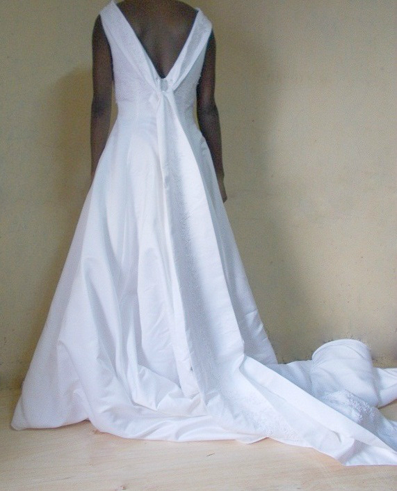 Cowl Neck Wedding Dresses Whimsical: Cowl Neck Wedding Dress For Rent In Kenya- Happy Wishy