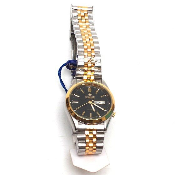 Gold silver plated watch