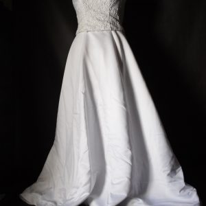 Mon Cheri simple wedding gown