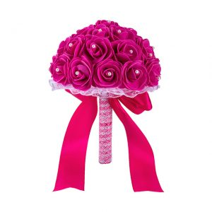 Pink wedding flower bouquet