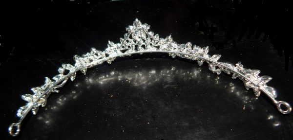 Rhinestone pageant tiara back view