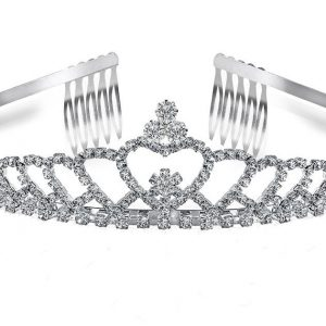 Silverplate bridal tiara