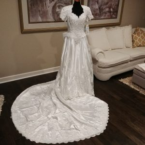 Mori Lee vintage wedding gown
