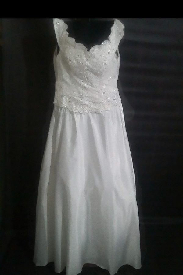 Sheath wedding gown