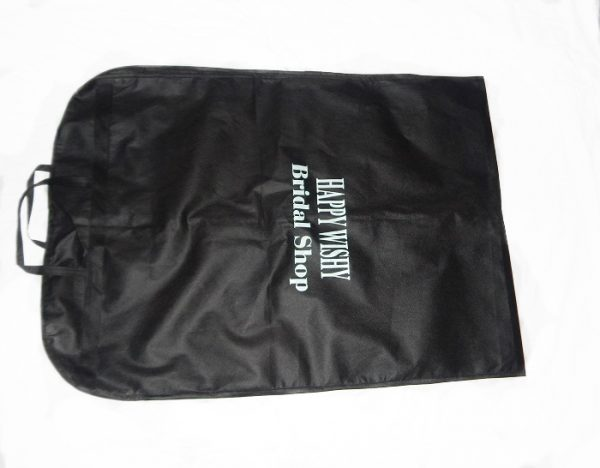 Wedding garment bag fold view
