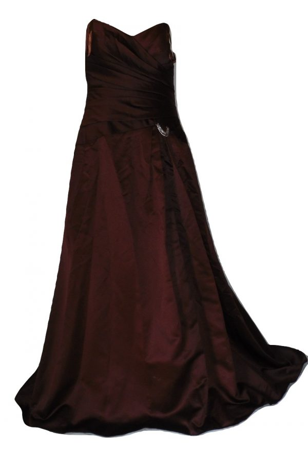 Chocolate evening dress