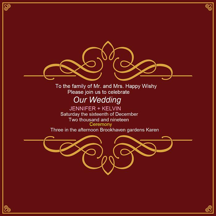 Wedding guest manners in Kenya