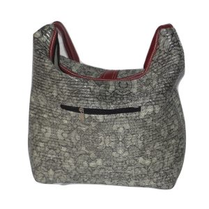 Baguette grey faux leather bag