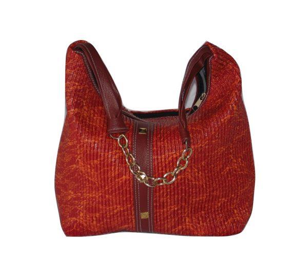 Baguette orange handbag