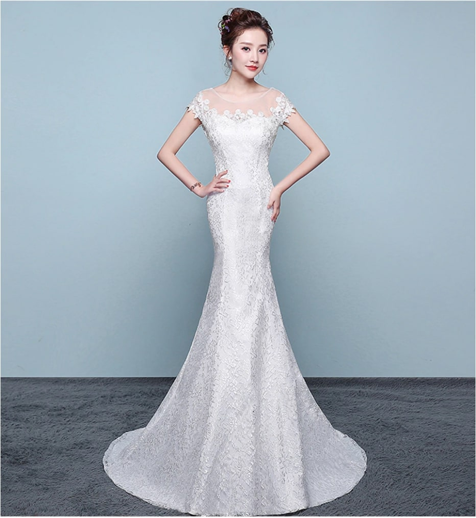 399db5464417 Boat neck mermaid wedding dress in Kenya for sale- Happy Wishy