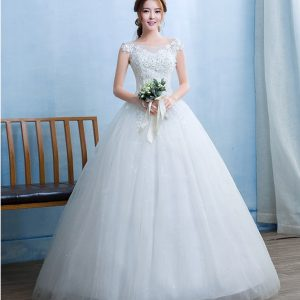 Off the shoulder organza wedding dress