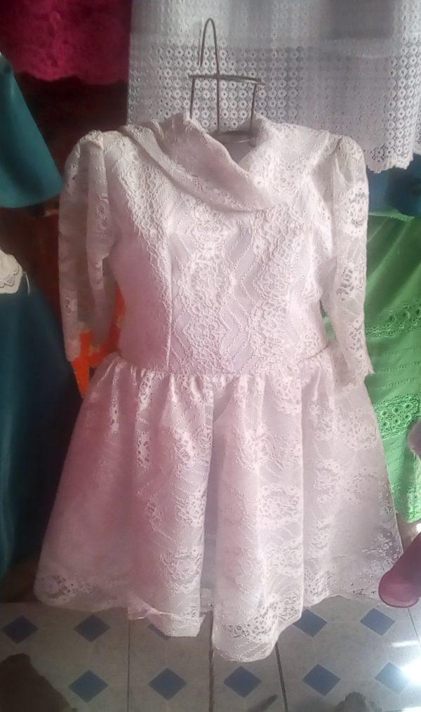 custom lace flower girl dress