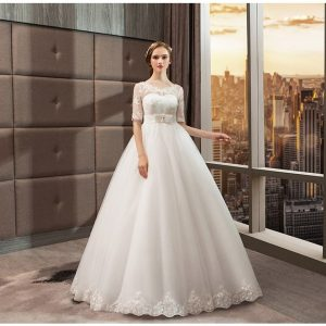 Lace ball gown