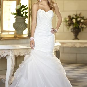 Pleated mermaid wedding dress