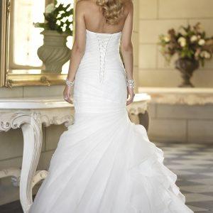 Pleated mermaid wedding dress