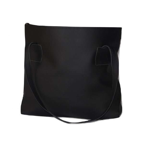tribal print tote handbag back view