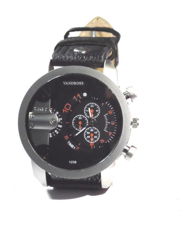 black Vandross men's watch