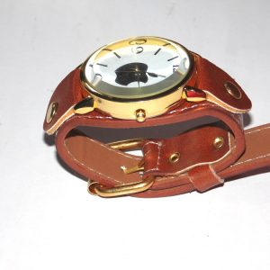 Ladies watch brown leather straps