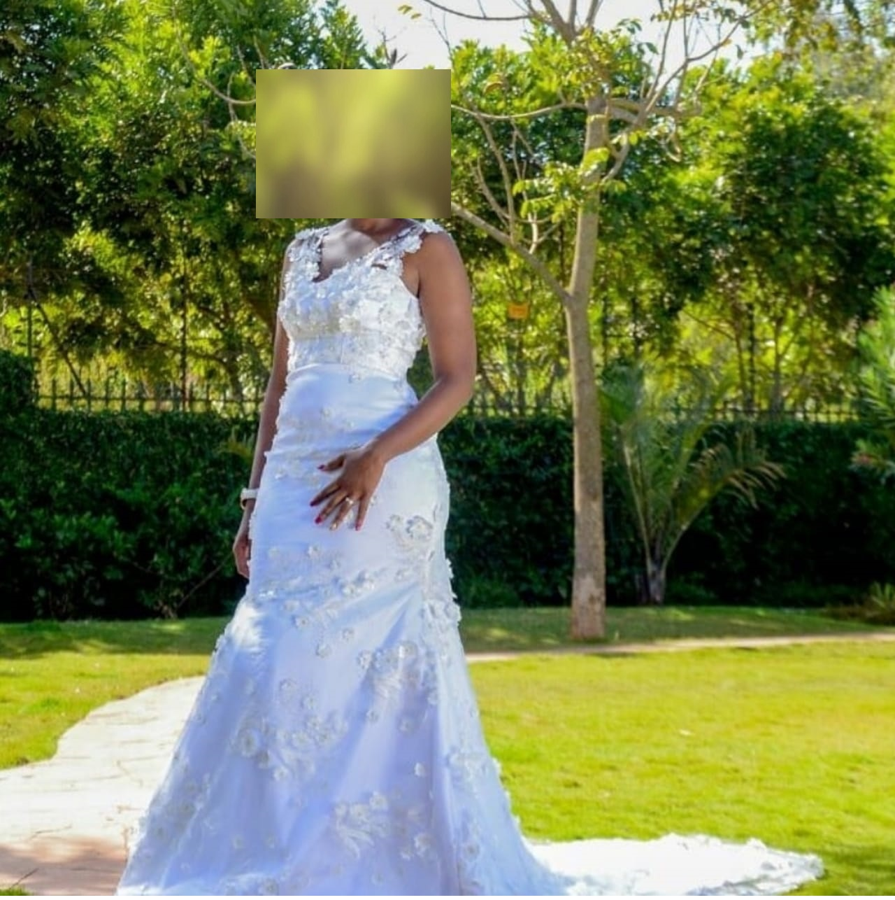 Tulle Bodycon Wedding Dress In Kenya For Rent