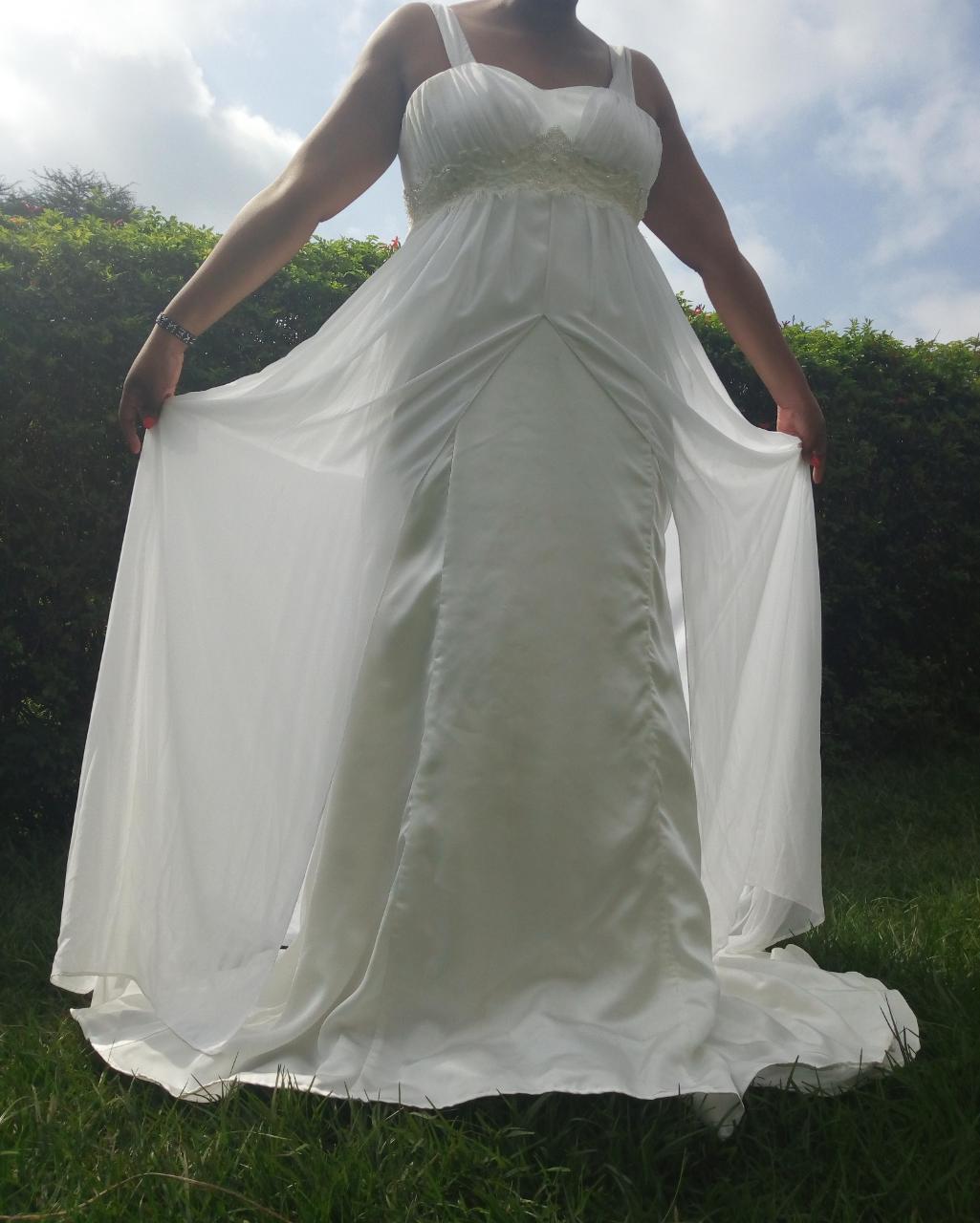 Chiffon Maternity Wedding Dress In Kenya For Rent