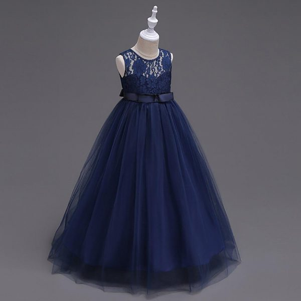 navy blue flower girl dress