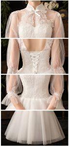 vintage muslim wedding dress details