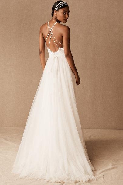 custom halter top bridal dress