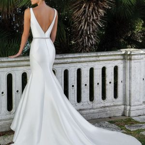 Satin Mermaid Wedding Gown