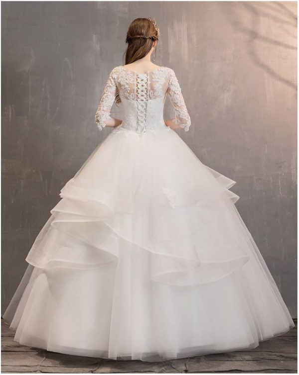 cinderella sweetheart ball gown back view