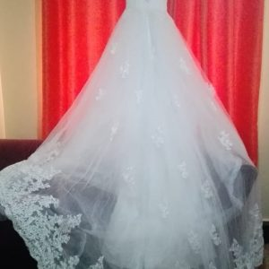 High Neck Lace Wedding Dress