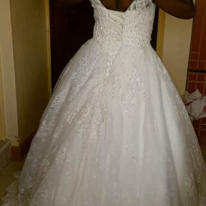 Classy Embroidered Ball Gown