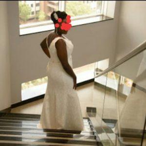 Vintage Sheer Corset Wedding Dress