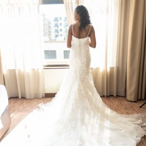 Mermaid Lace V-neck wedding dress