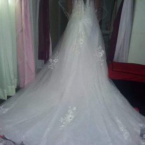 V-neck Bridal Dress