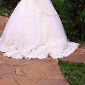 Embroidered Cinderella Ball Gown Wedding Dress