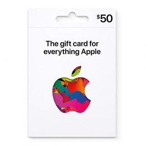 $50 Apple iTunes gift card