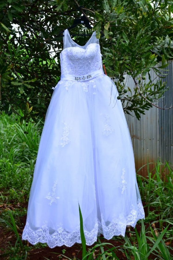 Shiny crystal beadings ball wedding gown