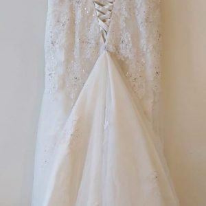 Embroidered trumpet gown