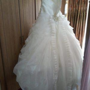 halter a-line gown
